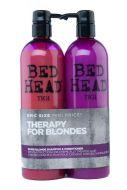 Tigi DUO 2 x 750 ml Dumb Blonde shampoo ja hoitoaine