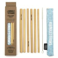 Jungle Straw Bambupillisetti 6 kpl