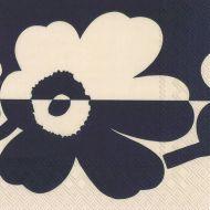 Marimekko lautasliina 33 cm Suur Unikko pellava/sininen L933964