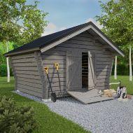 Create Home hirsilato rakoseinällä 10 m2