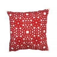 Create Home tyyny Kukka 45x45 cm punainen puuvilla