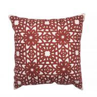 Create Home tyyny Kukka 45x45 cm ruskea puuvilla