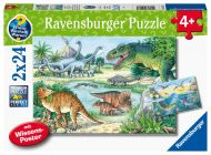 Ravensburger Palapeli Dinosaurus and their lives, 2x24 palaa