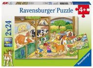Ravensburger Palapeli A day at the farm, 2x24 palaa