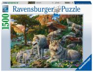 Ravensburger Palapeli Wolves In The Spring, 1500 palaa