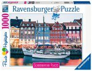 Ravensburger Palapeli Scandinavian Places Copenhagen Denmark 1000 p