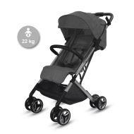 Knorr-Baby S-Easy Fold matkarattaat 22 kg saakka antrasiitti/musta