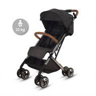 Knorr-Baby S-Eeasy Fold lastenrattaat 22 kg saakka musta/konjakki