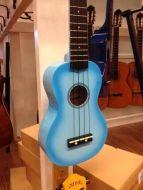 Noir ukulele kaksivärinen sininen sopraano