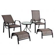 Garden4You parvekeryhmä Dakota pöytä 2 tuolia+2 jakkaraa t.harmaa/musta