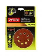 Ryobi hiomapaperilajitelma ø 125mm 10 kpl epäkeskohiomakoneille RO