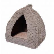 Rosewood kissanpesä fleece-pyramidi harmaa 40 cm
