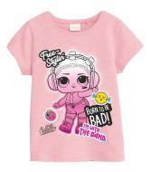 T-paita L.O.L. Surprise Girls 5-6 pinkki