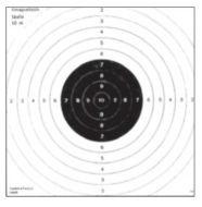 Tarkka Ilmapistoolitaulu 15 14x14 cm 100 kpl