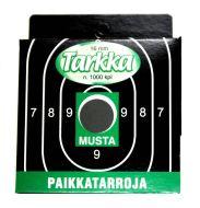 Tarkka Paikkatarra 16 mm musta