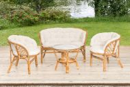 4Living kalustesetti Bahama rottinki 2 tuolia, sohva + pöytä