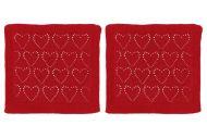 Winteria kestoliina Heart 25x25 cm punainen 2kpl 608182