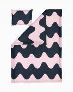 Marimekko Pussilakanasetti Lokki 150x210 cm+50x60 cm t.sininen/pinkki