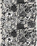 Marimekko vahakangas Floristi harmaa-musta
