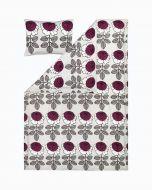 Marimekko pussilakanasetti Maalaisruusu 150x210+50x60 cm harmaa/luumu