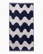 Marimekko pyyhe Lokki 70x140 cm l.valk/t.sininen