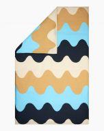 Marimekko parivuoteen pussilakana Lokki 240x220 cm beige/sininen