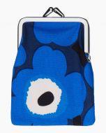 Marimekko korttikukkaro Mini Unikko sininen