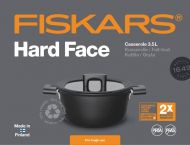 Fiskars Hard Face Kattila 3,5 l/22 cm kannella