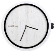 Aarikka Aikapuu-kello iso luonnonvalkoinen