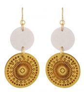 Aarikka Amuletti-korvakorut valkoinen/keltainen