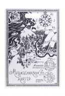 Muumi Muurla tarjoilu/leikkuulauta Kartta 30x43 cm