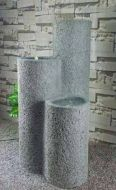 Chic Garden Pilarit suihkulähde LED-valoilla 100 cm
