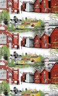 Vallila Oulu metrikangas 150 cm punainen
