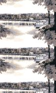 Vallila metrikangas Satamapuisto 150 cm sini-beige