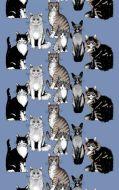 Vallila metrikangas Kitties 150 cm sininen
