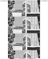 Vallila valmisverho Betoni 140x240 cm musta/valkoinen