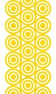 Vallila Kuplat vahakangas 145 cm keltainen