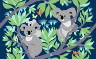 Vallila Koala Black Out metrikangas 150 cm yönsini