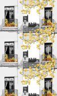 Vallila Parvekkeella metrikangas 150 cm keltainen