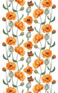 Vallila Monarkki vahakangas 145 cm oranssi