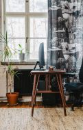 Vallila valmisverho Puuvallila 140x250 cm musta