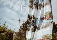 Vallila Saaristomeri valmisverho 140x250 cm sininen