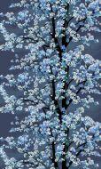 Vallila Omenapuu valmisverho 140x250 cm tummansininen