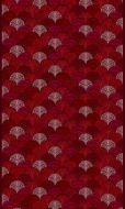 Vallila Viuhka vahakangas 145 cm punainen