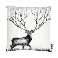 Vallila Infinite Deer tyynynpäällinen 43x43 cm valko/musta