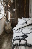 Vallila Infinite Deer pussilakanasetti 150x210 cm valko/musta