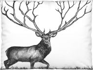 Vallila Infinite Deer tyynyliina 50x60 cm valko/musta