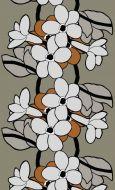 Vallila vahakangas Kukkatarha 145 cm oliivi