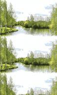 Vallila Joki metrikangas 150 cm vihreä