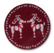 Vallila Olkipukki matto Ø 133 cm punainen